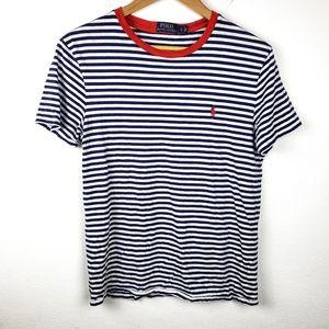 Polo Ralph Lauren   Striped Womens Tee Shirt Small